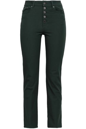 JOSEPH Stretch-twill slim-leg pants