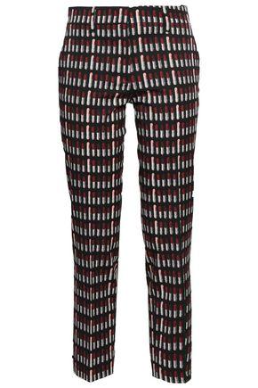 PRADA Printed wool-blend slim-leg pants