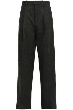 JOSEPH Herringbone wool-blend wide-leg pants
