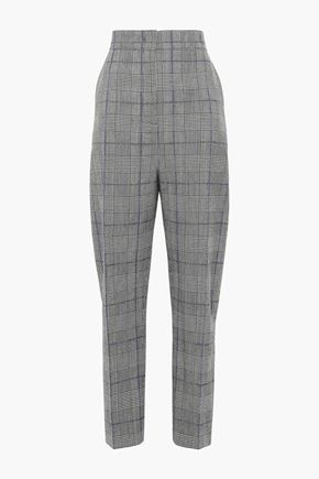 JOSEPH Prince of Wales wool tapered pants