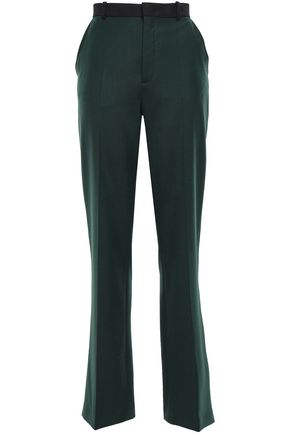 JOSEPH Two-tone twill straight-leg pants