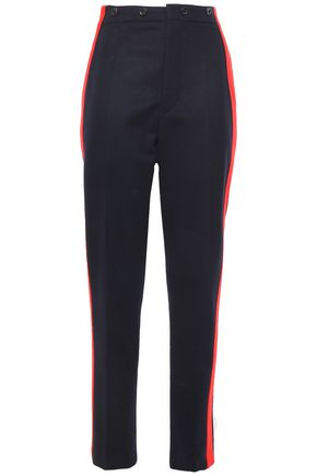 JOSEPH Annam striped wool and cashmere-blend felt straight-leg pants