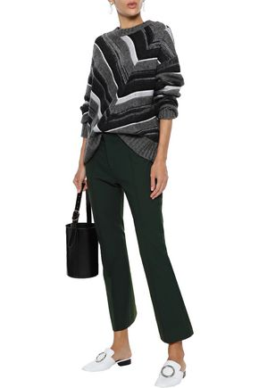 Joseph Woman Zed Woven Bootcut Pants Dark Green