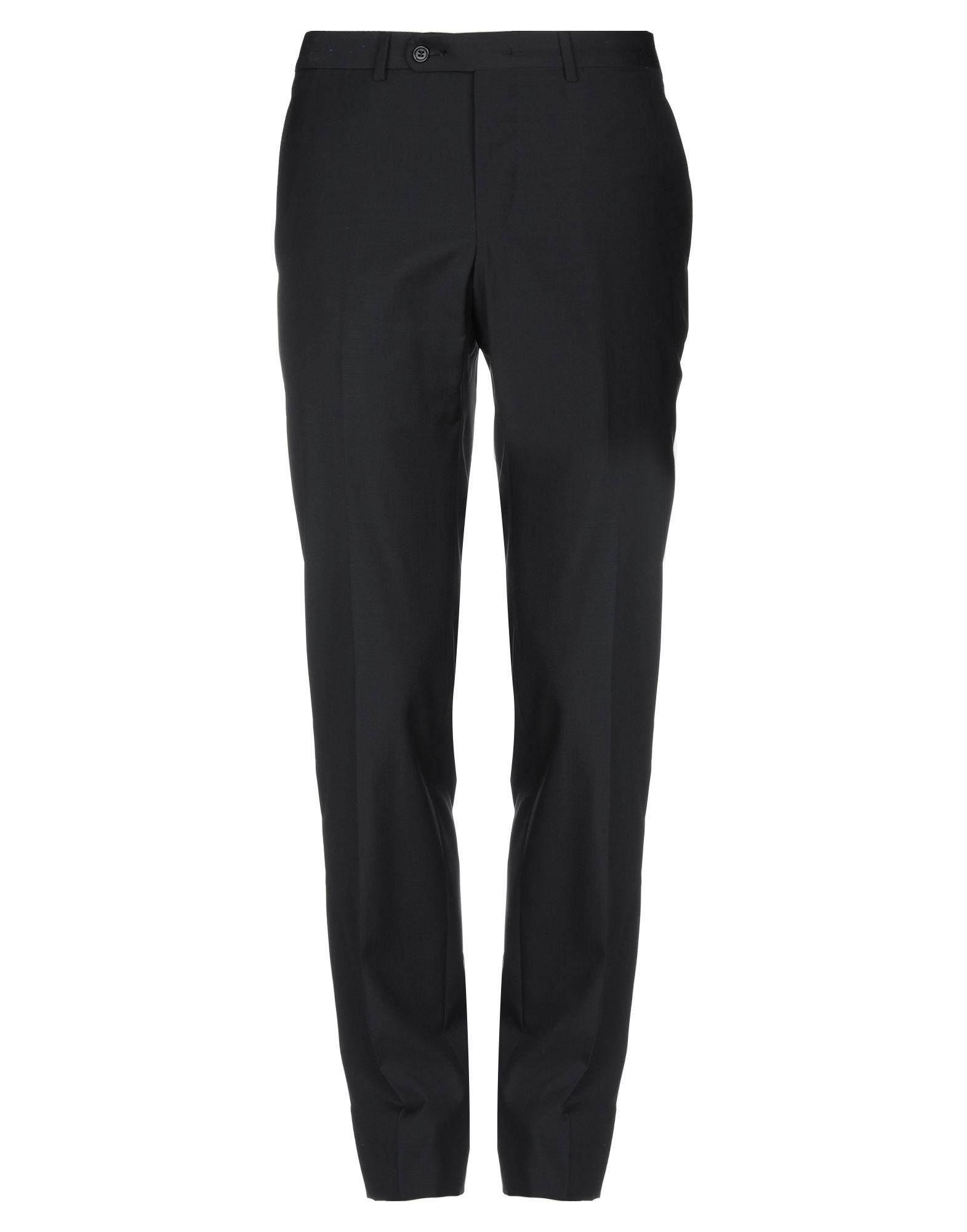 《送料無料》SARTORIA CASTANGIA メンズ パンツ ブラック 48 ウール 95% / シルク 5%