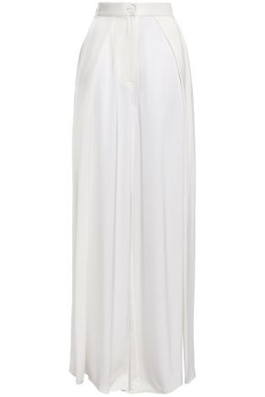 SOLACE LONDON Satin wide-leg pants