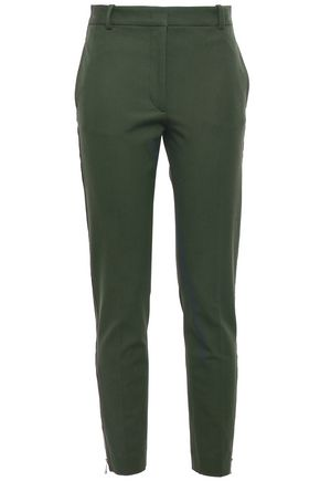JOSEPH Cropped stretch-twill slim-leg pants