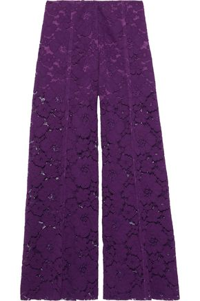 PHILOSOPHY di LORENZO SERAFINI Cotton-blend corded lace wide-leg pants
