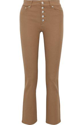 JOSEPH Den cropped high-rise slim-leg jeans