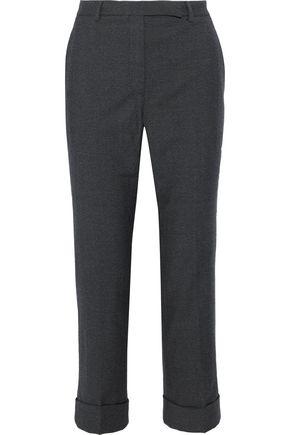 PHILOSOPHY di LORENZO SERAFINI Cropped brushed-wool straight-leg pants