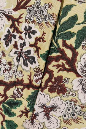 PHILOSOPHY di LORENZO SERAFINI Cropped floral-jacquard straight-leg pants