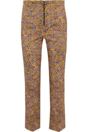 PHILOSOPHY di LORENZO SERAFINI Cropped floral-print cotton-blend twill straight-leg pants