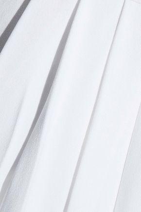 PHILOSOPHY di LORENZO SERAFINI Pleated striped crepe de chine tapered pants