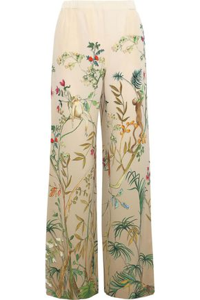 ALBERTA FERRETTI Printed silk wide-leg pants