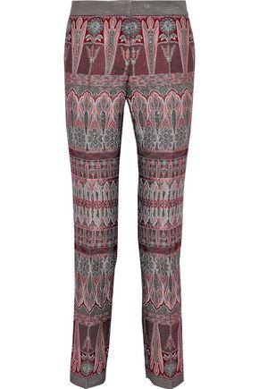 ALBERTA FERRETTI Brocade straight-leg pants