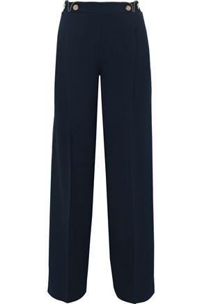 ALBERTA FERRETTI Button-embellished cady wide-leg pants