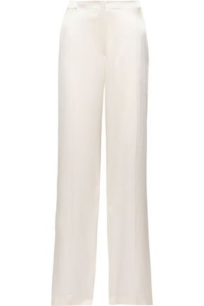 ALBERTA FERRETTI Silk-satin wide-leg pants