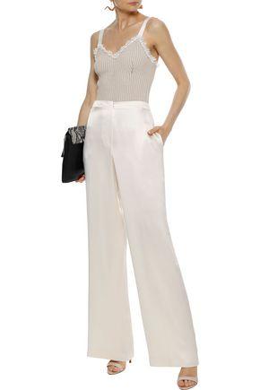 ALBERTA FERRETTI Silk-satin wide-leg pants