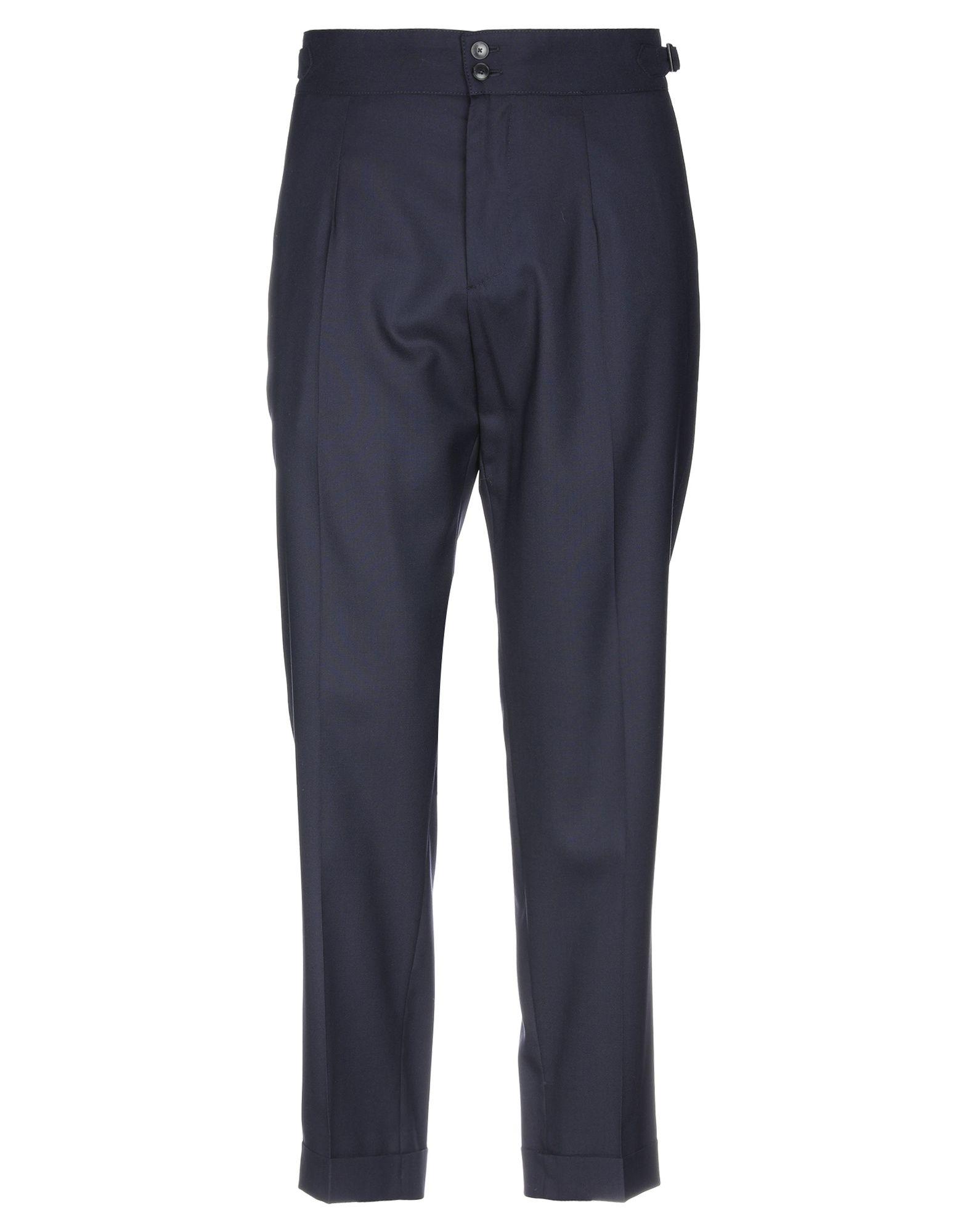 《セール開催中》CELLAR DOOR メンズ パンツ ダークブルー 52 ウール 100%