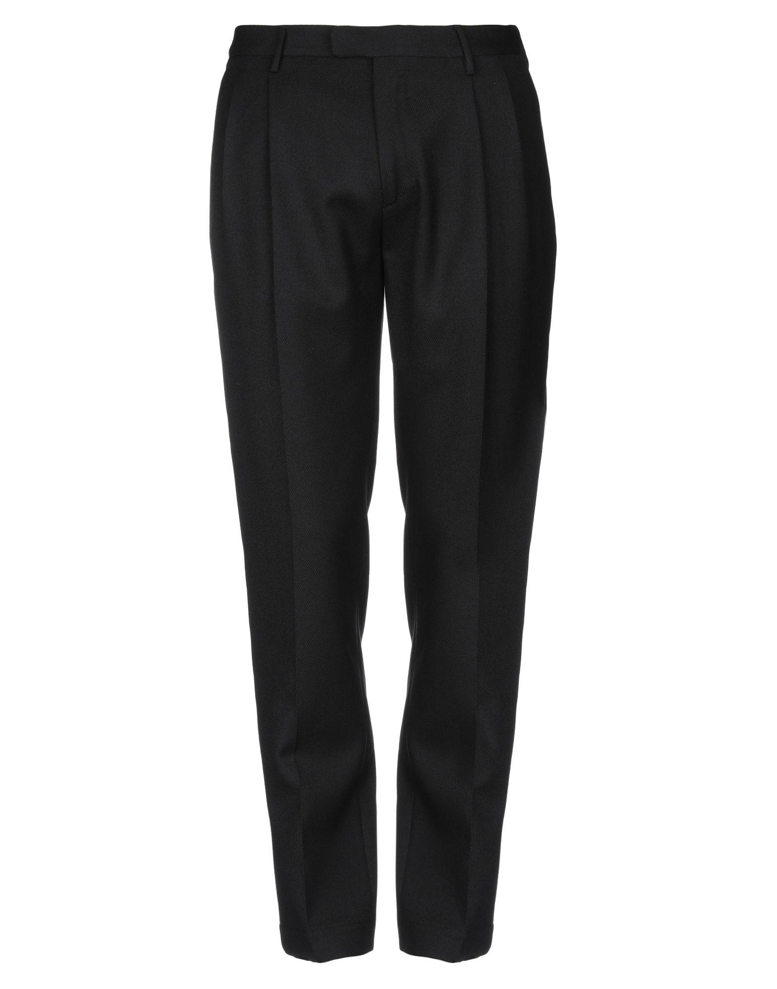 《セール開催中》CELLAR DOOR メンズ パンツ ブラック 50 バージンウール 100%