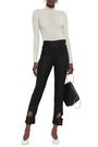 ELLERY Cropped cutout wool-blend twill slim-leg pants