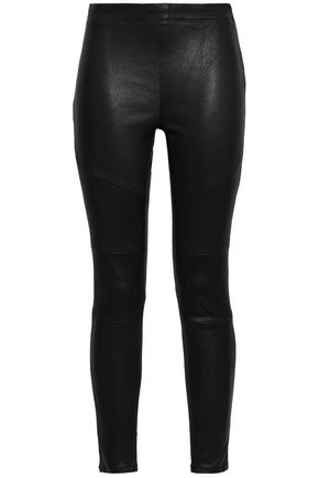 DL1961 Haven stretch-leather leggings