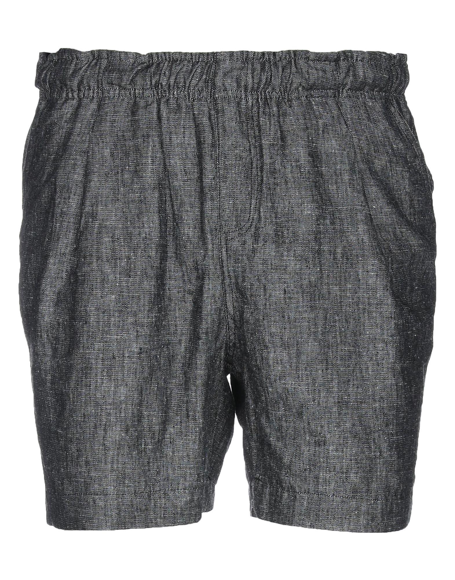 《セール開催中》THE KINGLESS COLLECTIVE メンズ ショートパンツ スチールグレー S 麻 55% / レーヨン 45% / コットン / ポリエステル