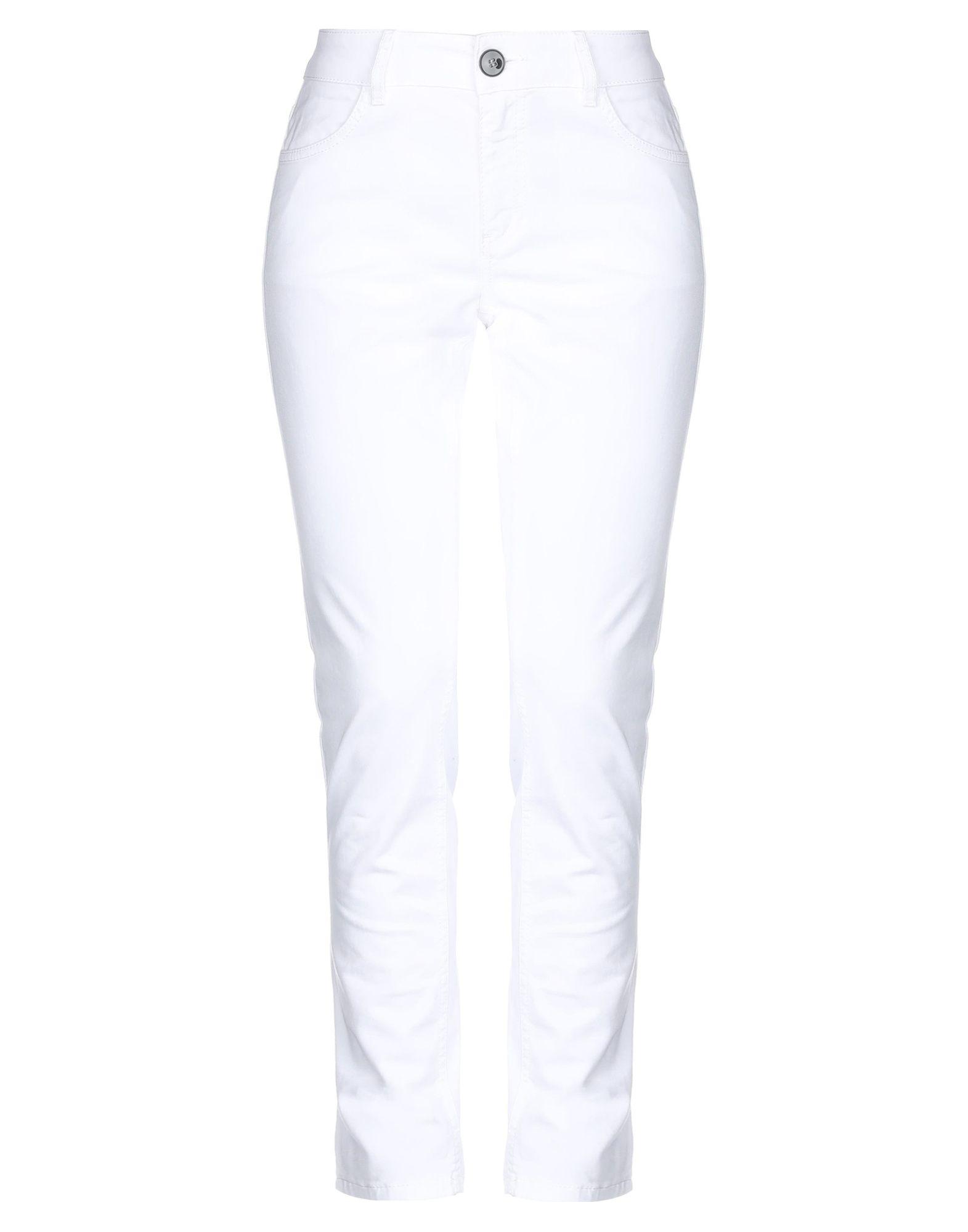 《セール開催中》EMME by MARELLA レディース パンツ ホワイト 38 コットン 98% / ポリウレタン 2%