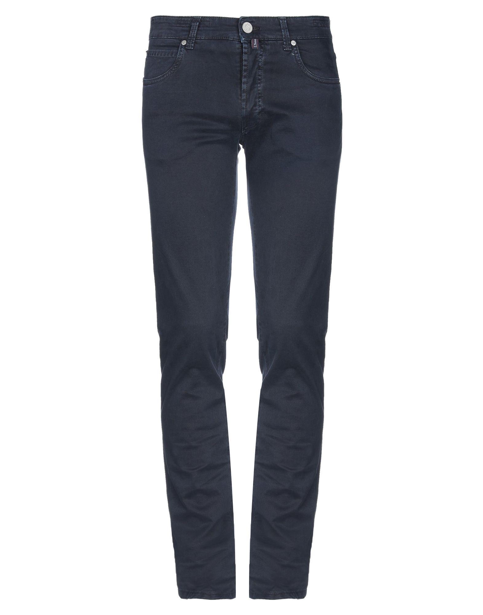 《期間限定 セール開催中》E.MARINELLA メンズ パンツ ダークブルー 31 コットン 98% / ポリウレタン 2%