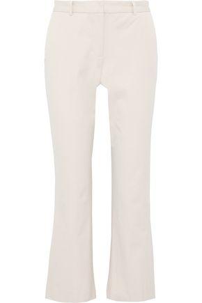 DONNA KARAN Stretch-cotton twill kick-flare pants