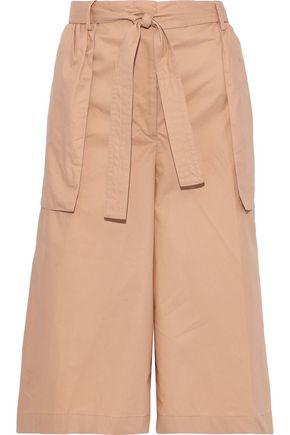 JIL SANDER Belted cotton-poplin culottes