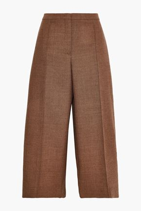 JIL SANDER Cropped wool-tweed wide-leg pants