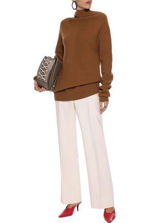 JIL SANDER Wool-blend straight-leg pants