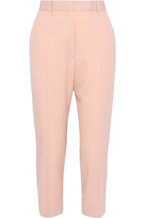 JIL SANDER Cropped wool-twill tapered pants