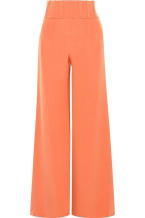 CUSHNIE Jade silk-crepe wide-leg pants