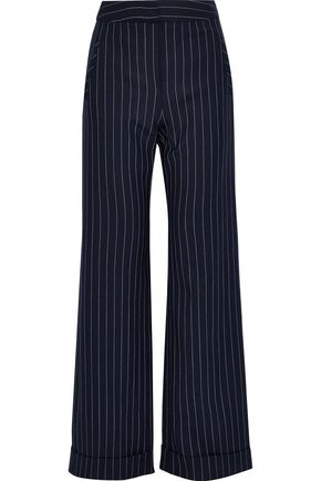 JONATHAN SIMKHAI Pinstriped twill wide-leg pants