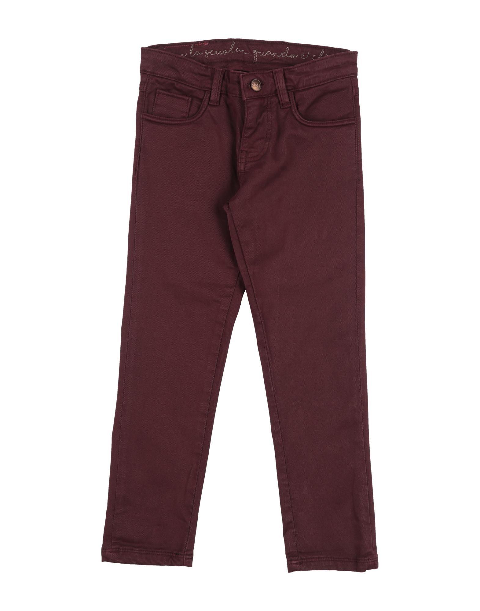 Sp1 Kids' Casual Pants In Brown