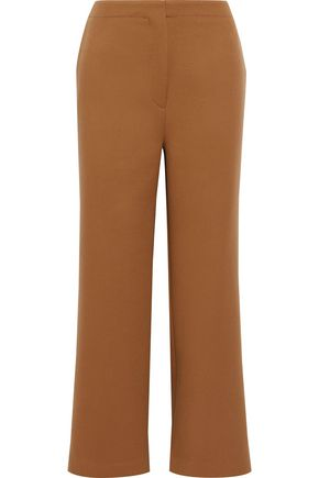 ROKSANDA Cropped wool and cashmere-blend straight-leg pants