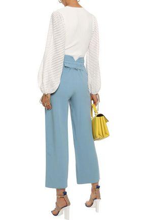 ROKSANDA Cropped crepe straight-leg pants