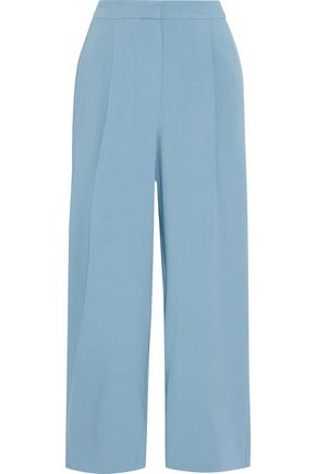 ROKSANDA Cropped crepe straight-leg pants