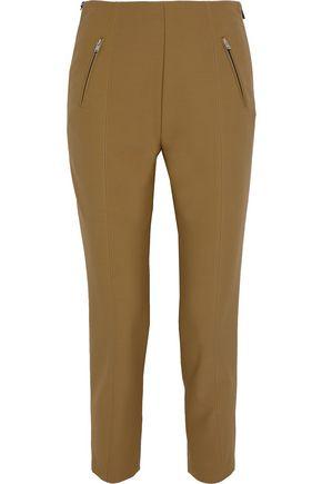 SONIA RYKIEL Cropped zip-detailed stretch-twill slim-leg pants