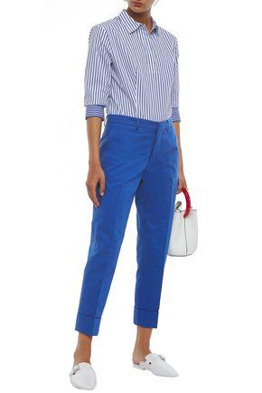 MARNI Cotton and linen-blend gabardine tapered pants