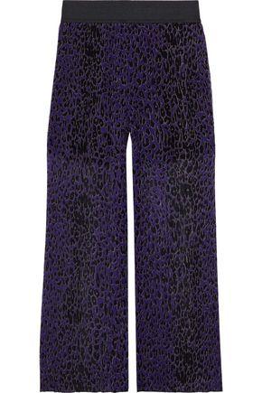 ANNA SUI Leopard-print plissé silk-georgette wide-leg pants