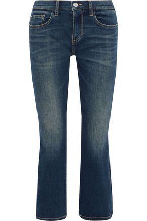 CURRENT/ELLIOTT The Kick faded mid-rise kick-flare jeans