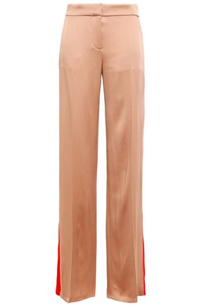 PETER PILOTTO Striped satin-crepe wide-leg pants