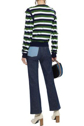 SONIA RYKIEL Two-tone mid-rise bootcut jeans