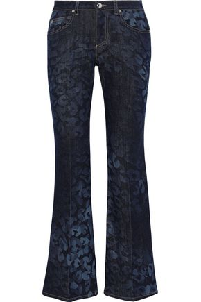 SONIA RYKIEL Printed mid-rise bootcut jeans