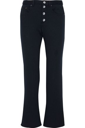 SONIA RYKIEL Striped stretch-knit bootcut pants