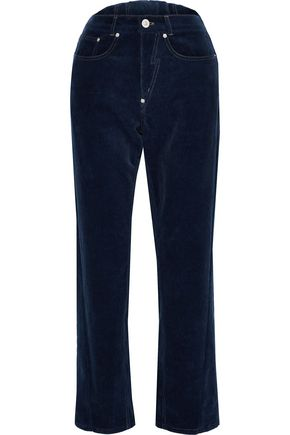 PUSHBUTTON Stretch-cotton corduroy straight-leg pants