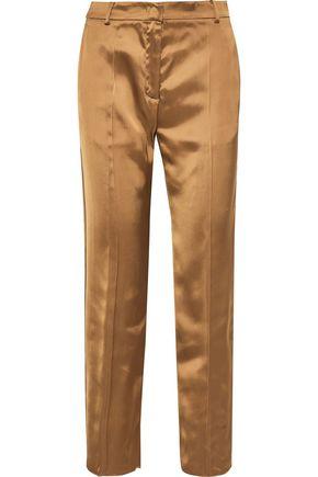 AGNONA Satin straight-leg pants