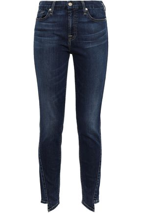 7 FOR ALL MANKIND Asymmetric high-rise skinny jeans